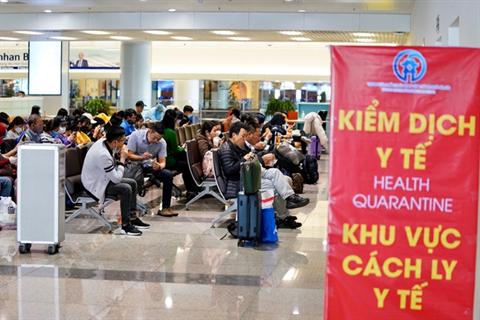 Ngày 20/3, sân bay Nội Bài sẽ đón khoảng 1183 hành khách đến từ vùng có dịch