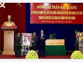 Chủ tịch nước Trần Đại Quang kiểm tra công tác tại Công an TP Hải Phòng