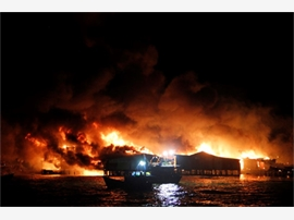 Cháy lớn tại Nha Trang, hơn 70 căn nhà bị thiêu rụi