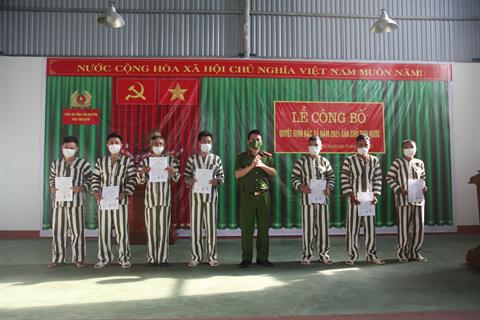 Công an tỉnh Thái Nguyên tổ chức công bố Quyết định đặc xá của Chủ tịch nước