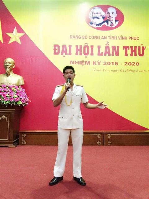 Nguyễn Văn Tráng – giọng ca chủ lực của Công an tỉnh Vĩnh Phúc